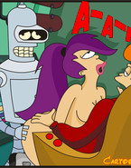 Naughty Philip J. Fry and Bender are best boosters and they are willing to share Turanga Leela in one of the most exciting Futurama sex actions