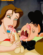 Belle lets Lefou has his fun, sucking on her nipples, while Gaston fucks her. She knows Lefou is hopelessly in lust with her.