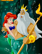 Triton licks Ariel`s titties and gets her pussy dripping she welcomes him inside her.