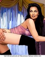 Leggy puss Cindy Crawford