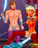 Kinky porn Star Wars Master invents new ways to punish chained up slavegirl Ahsoka