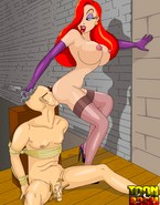 Toon porn star Jessica Rabbit dominates her boy toy and gets ass-fucked