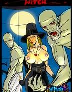 Ghouls make witch eat cum