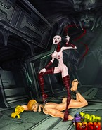 Unlucky toon dom gets trampled by slavegirl