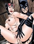 Catwoman sucks Batman`s hot pole
