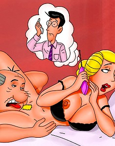 American Dad receives his humongous dong worshiped