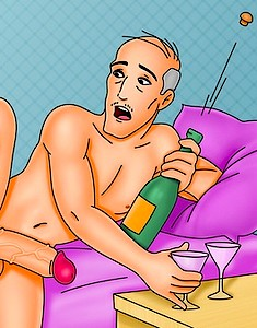 Taking cartoon women to ejaculation of enjoyment