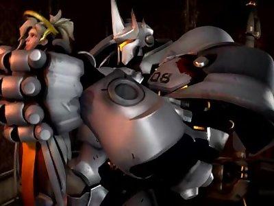 Overwatch - Mercy and Reinhardt