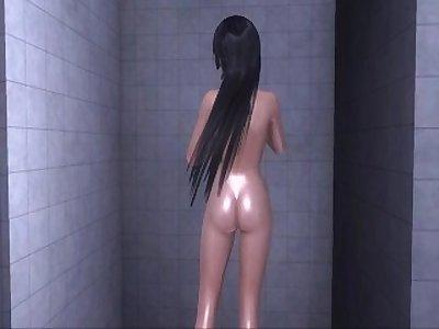 Dead or Alive Xtreme 3 PC - Shower Scene Nude Nyotengu