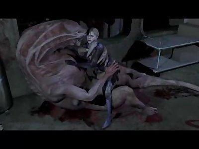 Monster fuck Jill Valentine