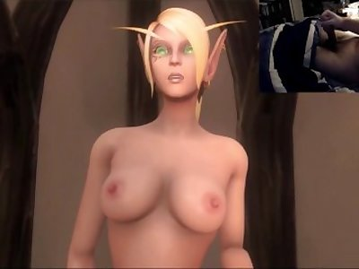 Let's Play: Masturbating to World of Warcraft Elf and Wolf Sex!