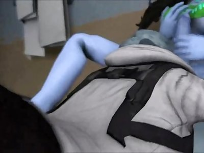3D FUTA SOUND EDIT - CiC SFM - Street Fighter Laura jerk climax