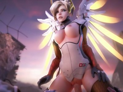Mercy and soldier 76 fucking