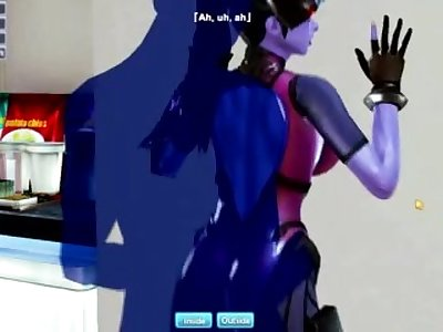 Widow maker sex - Honey Select Game play (and trashy editing)