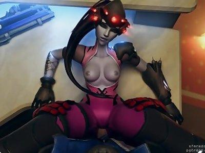 (Overwatch) Soldier 76 Fucking Widowmaker POV