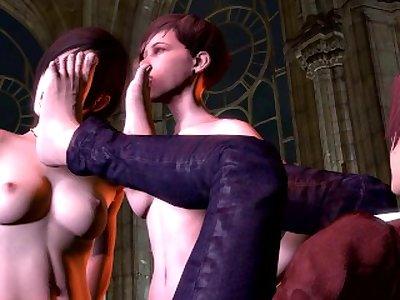 Resident Evil foot fetish (Futa)