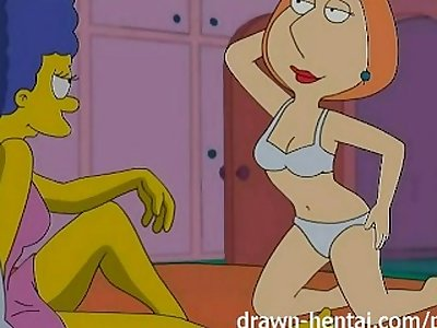 Lesbian Hentai - Marge Simpson and Lois Griffin