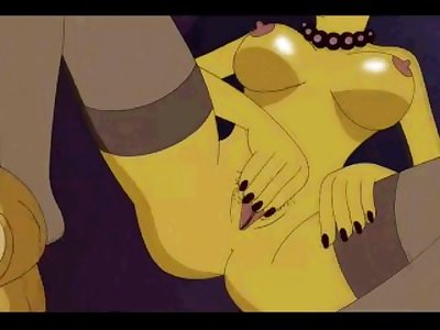 Marge Simpson Massaging Her Pussy