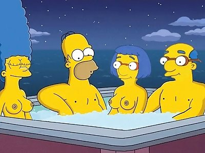 801489  Homer Simpson Kirk Van Houten Luann Va Hentai