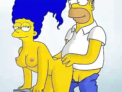 688105  Homer Simpson Marge Simpson The Simpso Hentai