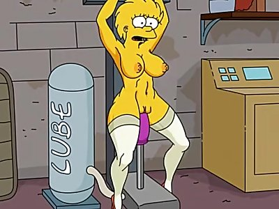 Simpsons porn - adult Lisa Simpsons fucked by sex machine and infalted