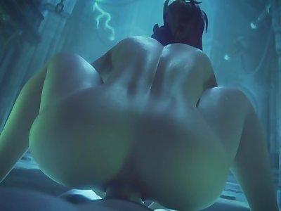 Brigitte Ass Fucked Overwatch (Animation W/Sound)