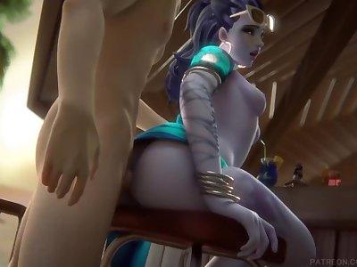 Côte d'Azur Widowmaker Fucked Overwatch (Blender Animation W/Sound)