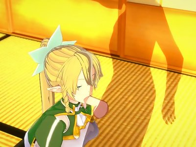 Sword Art Online - Leafa 3D Hentai