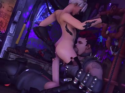 Futa Tracer and Futa Zarya Fucking in an Alleyway by Rentegra (Sound)