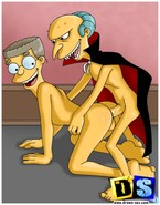 Mr. Burns was craving for a tender bottom of his attractive assistant, Waylon Smithers, and, finally, seduced him into enjoying a twink sex scene