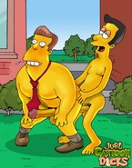 The Simpsons try gay sex