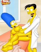 Marge Simpson and porn Foxxy getting their beavers invaded by massive love clubs