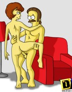 Naughty Ned and Maude Flanders forget about anything and everybody and focus only on making sex actions and granting frenzy to every other
