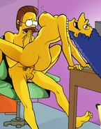 Marge Simpson is a very experienced babe who realizes much about sex world and who realizes how to please a well-hung chap adore Ned Flanders to the full