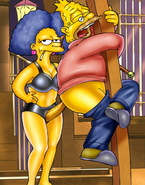 Juicy futanari babes from The Simpsons get busy