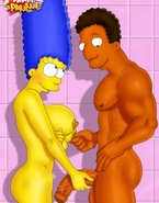 Really busty cartoon whores from porn Simpsons, American Dad and Futurama showing their knockers
