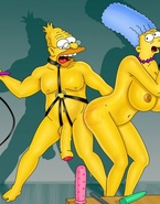 Marge Simpson gets her face fucked and takes a real BDSM whipping