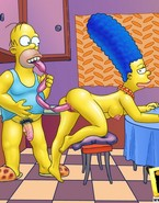 In order to brighten their fuck lives and climax, wicked Homer and Marge Simpsons, use long sausages which satisfy their fuck fantasies to the full.