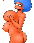 Come marvel at Marge's and her sister's heavy curves in this Simpsons porn gallery