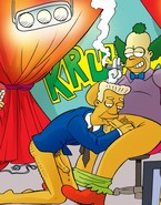 Simpsons Gay Cartoon Action