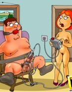 When Peter Griffin gets too wicked, Lois Griffin ties him up and wires his hawkshaw and then makes him satisfy all her sexual passions to the full.