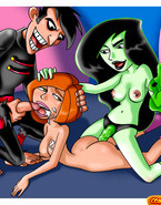 Kim, Shego and Adrena sharing their friends' and foes' meat