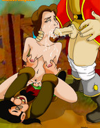 Gaston fucks the main heroine of the Beauty and the Beast cartoon while her husband is away and she visits her friends and father in the village.