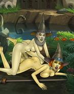 Two famous futanari chicks pleasuring their fuckmates