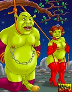 The vulnerable penises of hung giants from Shrek porn getting unbearably painful treatments