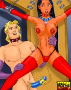 Porn artworks showing Pocahontas and John Smith playing master and slave