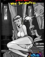 Kinky priest examines witch's body