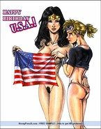 Comics super heroes in femdom orgy