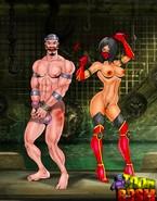 Naked Mortal Kombat babes and their slaves