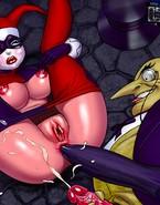 Batman punishes naughty female villains